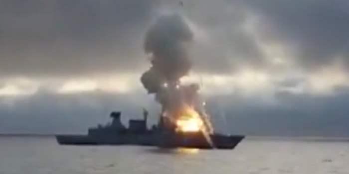 взрыв на корабле Германии