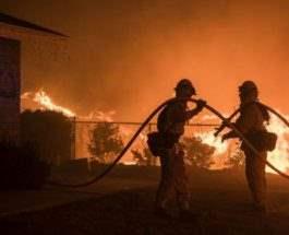 пожары калифорния