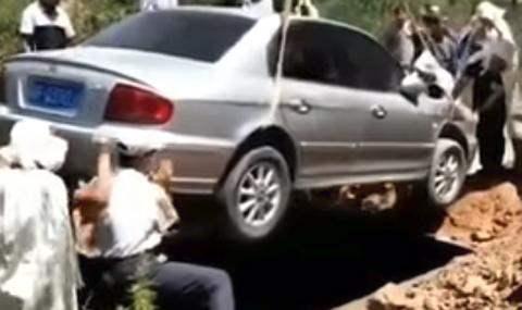 Hyundai Sonata,похороны,авто,Китай