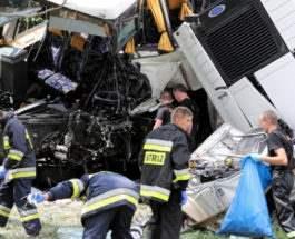 43 ребенка погибли в аварии в Польше
