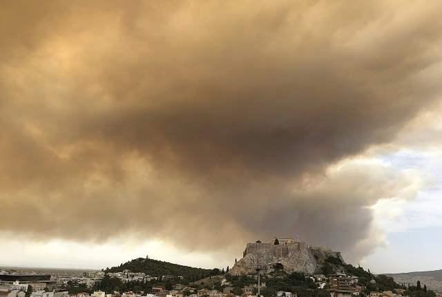Греция пожары