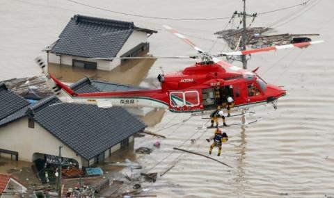 Япония наводнение