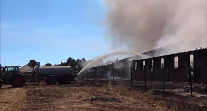ферма пожар