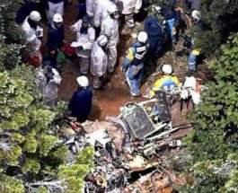 Вертолет разбился в Японии