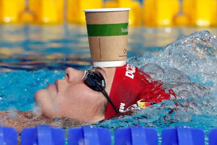 Кадр с чемпионата Европы по плаванью