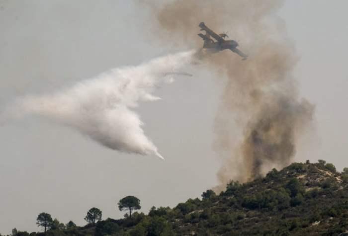 Лесной пожар вблизи Валенсии