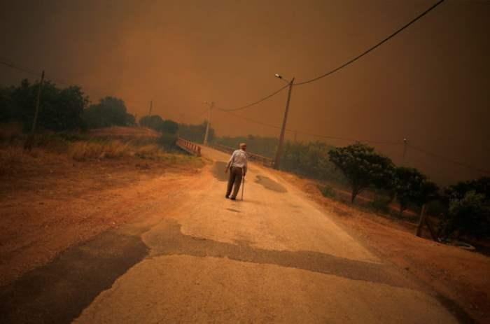 Пожары в Португалии.