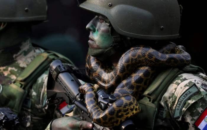 Солдат из спецназа Парагвайской армии