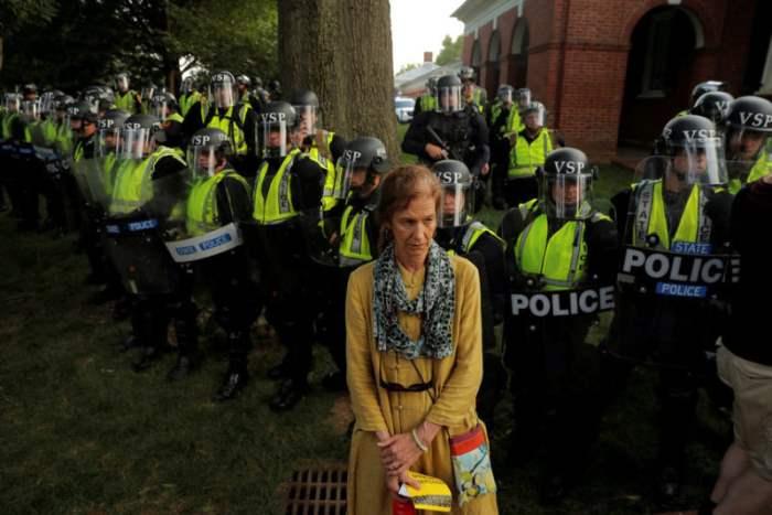Участник протеста
