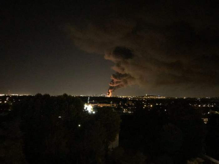 Франция пожар