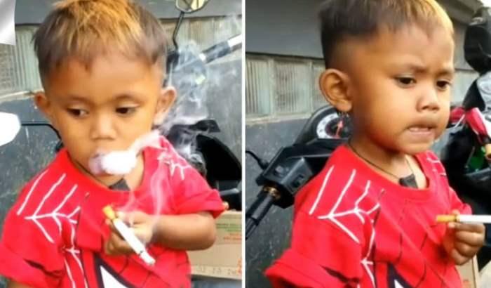 ребенок курит