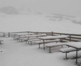 снег словения
