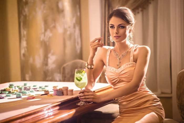 в казино