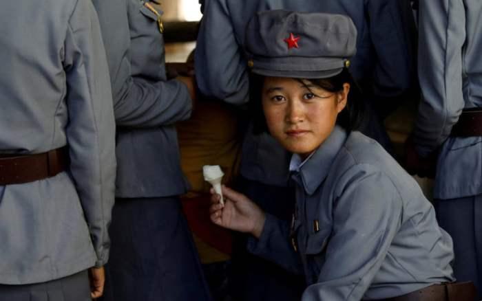 Военнослужащая Северной Кореи