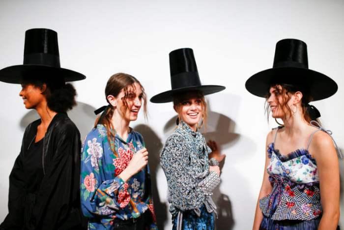 За кулисами Недели моды в Лондоне, Великобритания.