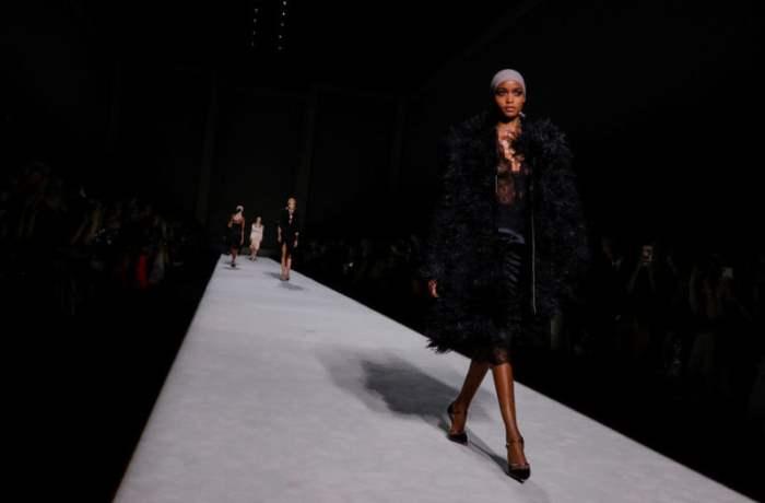 Момент Недели моды в Нью-Йорке