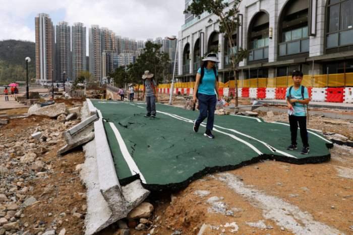 Последствия тайфуна Мангхут.