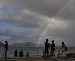 Радуга над пляжем Ипанема