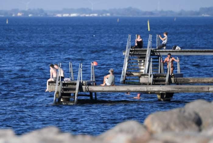 Теплая погода в Мальмё, Швеция.