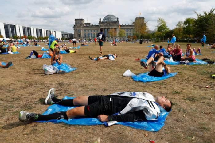 Участники Берлинского марафона