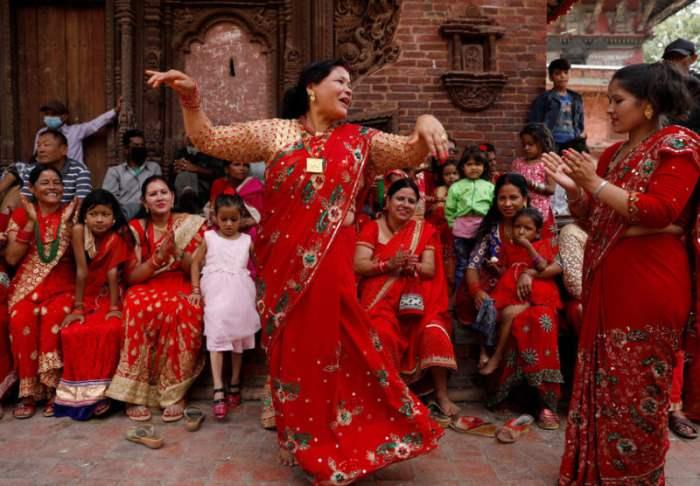 Фестиваль в Катманду, Непал.