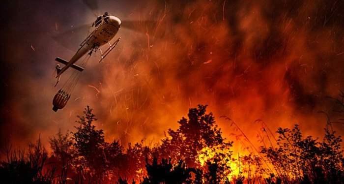 италия лесной пожар