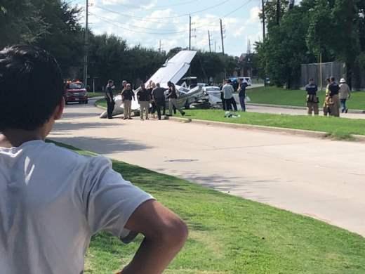 техас упал самолет