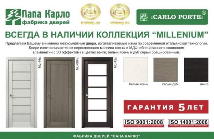двери Папа Карло Одесса