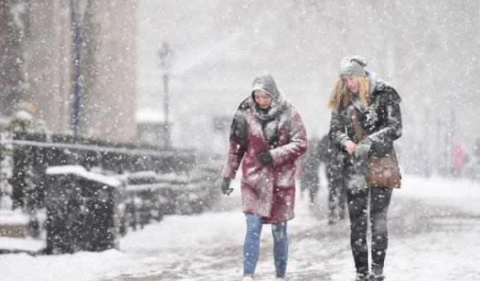 снег Британия