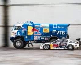 Дрифт-битва Камаз и Mazda RX-8