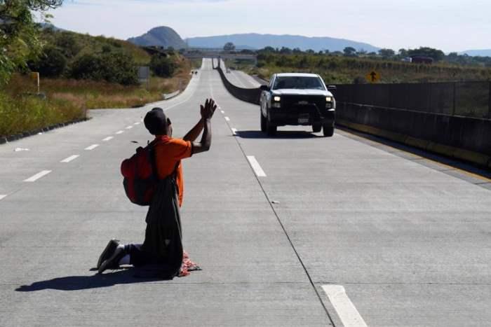 Мигрант по пути в Соединенные Штаты