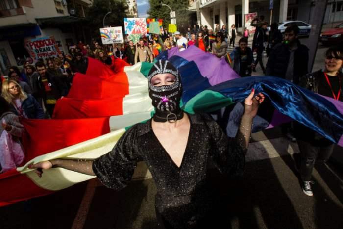 Момент ежегодного гей-парада
