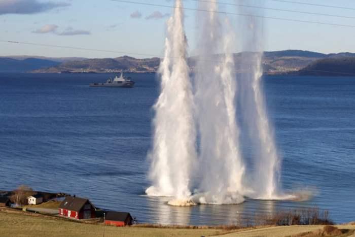 Обучение НАТО у берегов Норвегии.