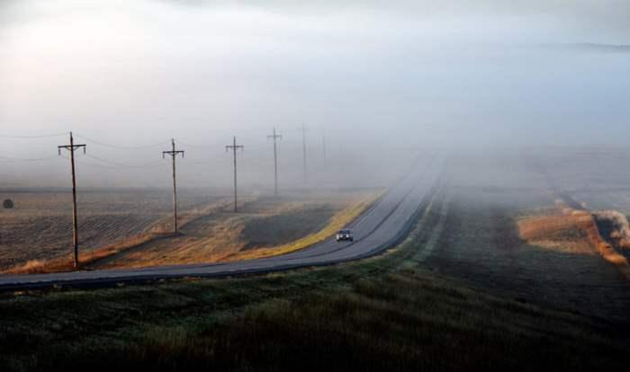 По дороге в Северную Дакоту, США.