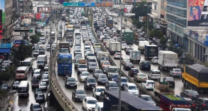 Трафик в Бейруте, Ливан.