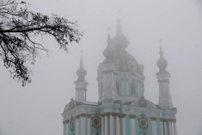 Церковь Святого Андрея в Киеве, Украина.