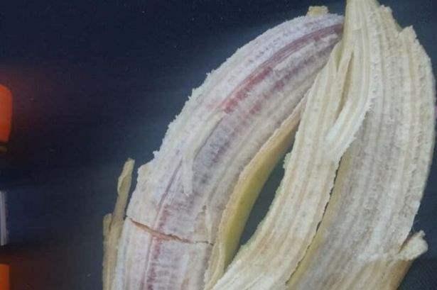 в банане