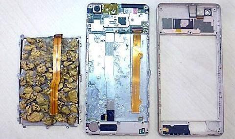 золото в смартфоне