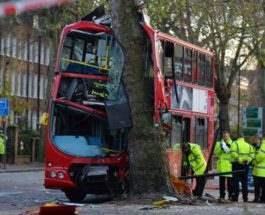 лондон авария автобус