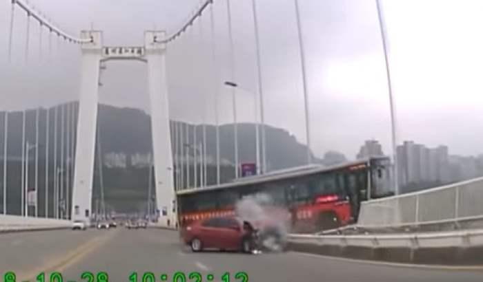 падение автобуса