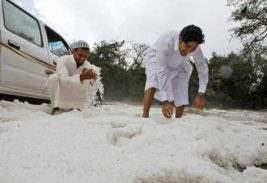 снег в саудовской аравии