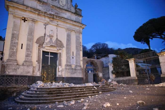 Землетрясение на итальянском острове Сицилия