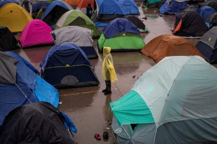 Лагерь беженцев в Тихуане, Мексика.