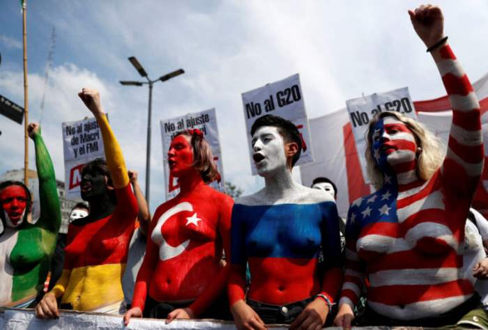 Протесты на встрече G20