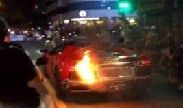 Самовозгорание Lamborghini