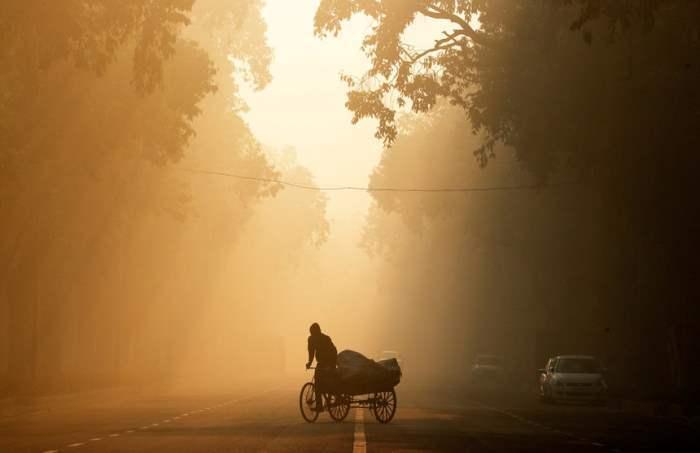 Утро Утро в Нью-Дели, Индия.