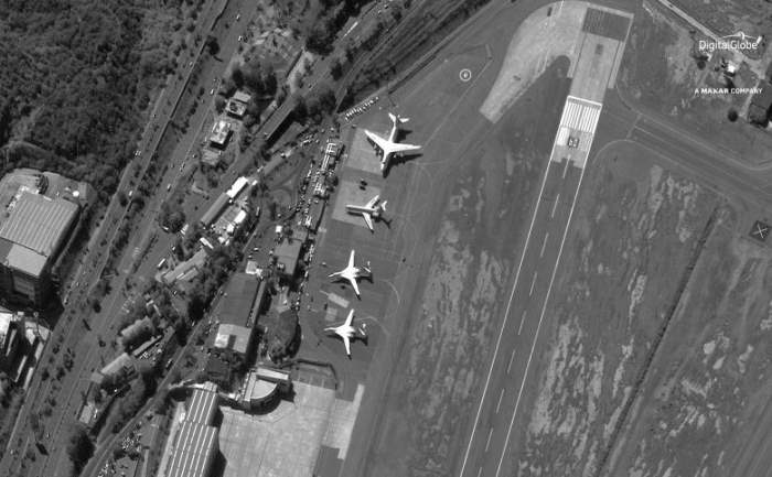 Четыре российских военных самолета