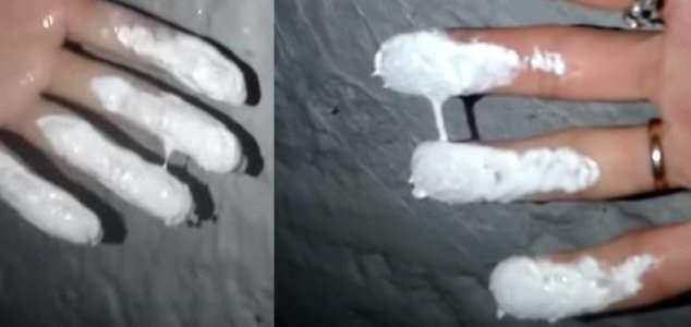 мыски снег краска