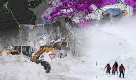 Австрия снег