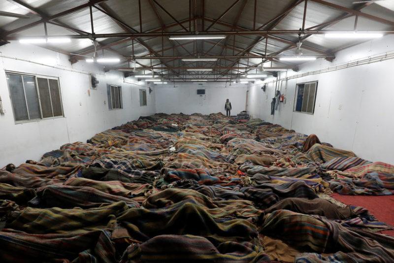 Бездомные спят